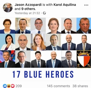 'Blue heroes': names of PN's 17 rebels who want Delia out released