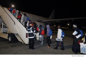 More rescued migrants relocated to France