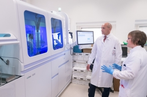 New machine at Mater Dei can perform 800 COVID-19 tests a day