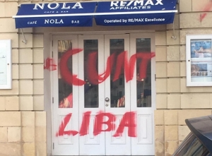Remax offices vandalised with graffiti over St Julian's Nola Café outrage