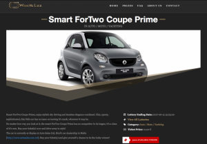 A Smart Fortwo is up for grabs: Wish me luck!
