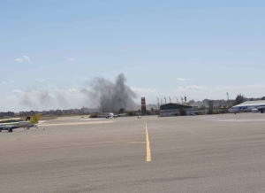 Tripoli's only functioning airport bombed