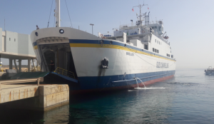 Fourth Gozo Channel ferry moors in Cirkewwa
