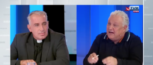 [WATCH] Xarabank presenter Peppi Azzopardi confronts Lowell's priest over far-right endorsement
