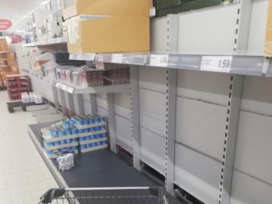 Queues and empty shelves reveal our fear of an uncertain future