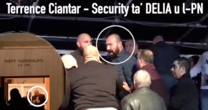 [WATCH] Facebook clip shows Delia security man shoving people in Xarabank audience fight