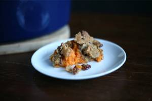 Sweet potato and pecan bake