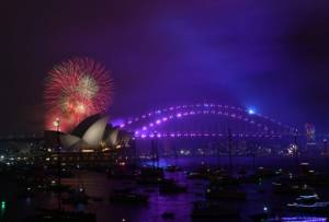 Australia ushers in New Year with rainbow display as same-sex marriage is legalised