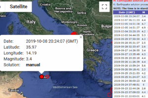 Gozo tremor recorded at magnitude 3.7