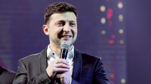 Ukraine comic leads presidential poll first round