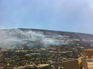 Brushfire spotted in Ta' Cenc Natura 2000 site