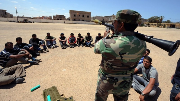 Rebels in Libya being trained in the use of French weapons in an effort to topple Muammar Gaddafi