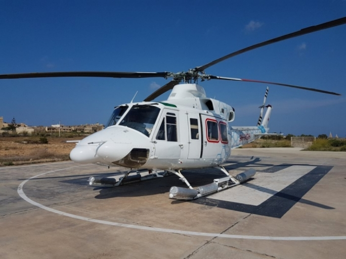 The Steward Healthcare helicopter is crucial for the evacuation of patients needing treatment at Mater Dei Hospital