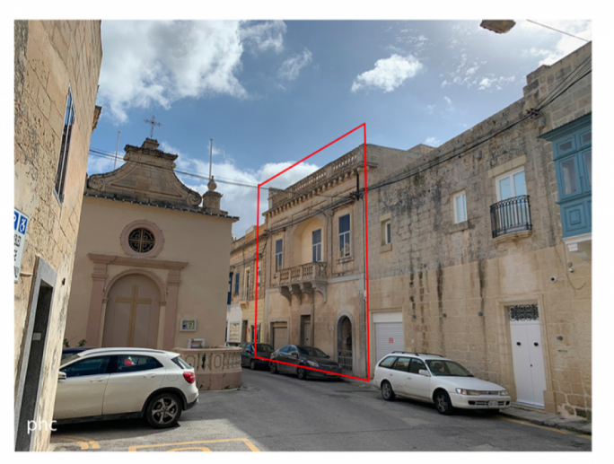 The facade of the Grand Home on St Lucy Street (right), which opens into a massive garden stretching right to the Hal Dghejf street in Naxxar