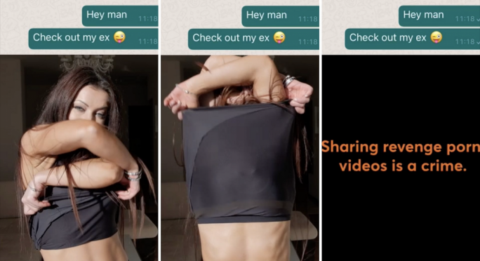 Teaming up with marketing agency TBWA/ANG, CVSA has launched an awareness campaign which features a video with a fake WhatsApp message being sent from one person to the other, with a nude video of their ex-girlfriend. The video cuts at the moment the footage gets explicit, in a reminder that revenge porn is illegal