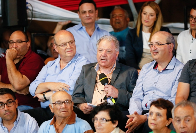 Josie Muscat, a former Nationalist MP who formed a right-wing party in 2008, was present at the PN's Independence celebrations