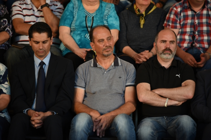 Godfrey Farrugia (centre_ at a PN rally: is the Democratic Party the key to the switcher vote that chose Labour in 2013 after ahving voted for the PN in 2008 (Photo: James Bianchi/MediaToday)