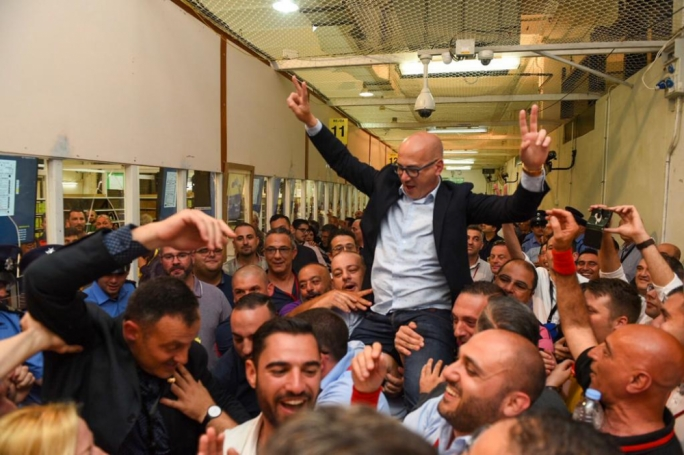 Have we really taken Valletta? Jubilation for Labour as One TV host Alfred Zammit is crowned mayor of the capital city, a first-time victory for the PL - below, how that final local council map looked, pretty red...