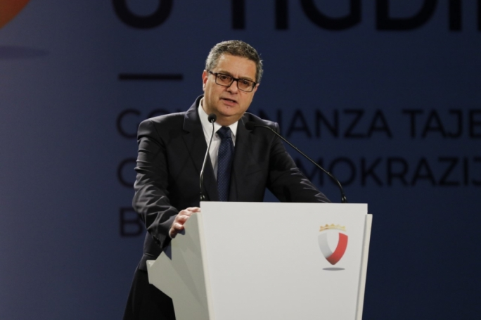 Opposition leader Adrian Delia during a PN Extraordinary General Council (file photo)