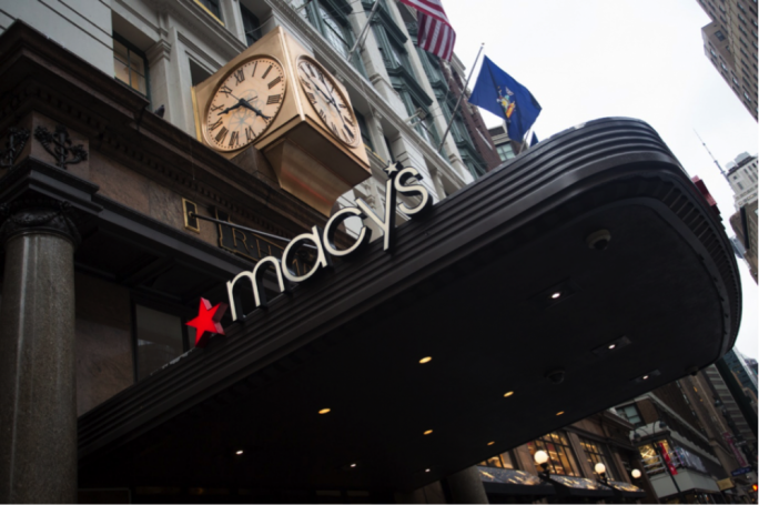 Overall sales for the retailer Macy's rose 3.6% from last year
