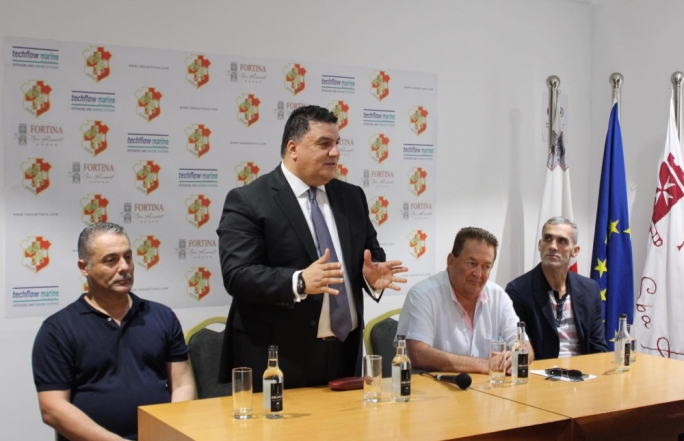 Syrian-Canadian investor Yahya Kirdi (second left) was reportedly interested in a stadium investment for Naxxar Lions, but the FTS now says its football ground would be used for the club
