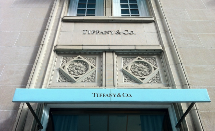 Tiffany & Co.'s shares rose around 20% on Wednesday
