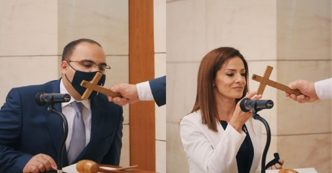 Clyde Caruana and Miriam Dalli sworn is as MPs