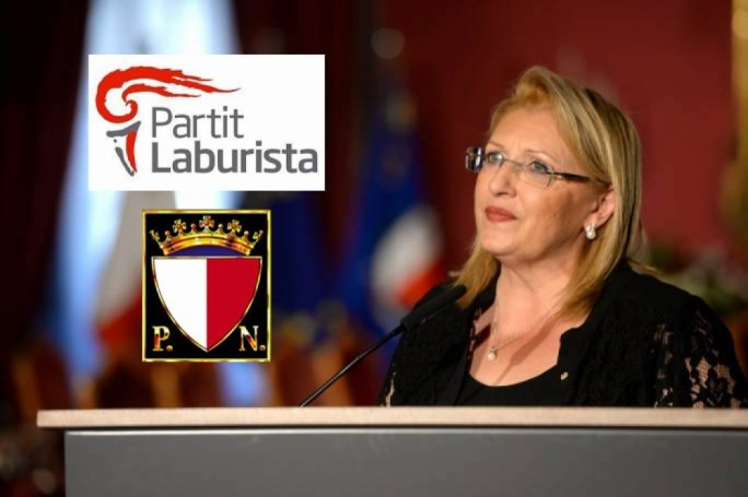 President Marie-Louise Coleiro Preca appears to be heading a steering committee for constitutional reform made up exclusively of representatives of the PL and PN
