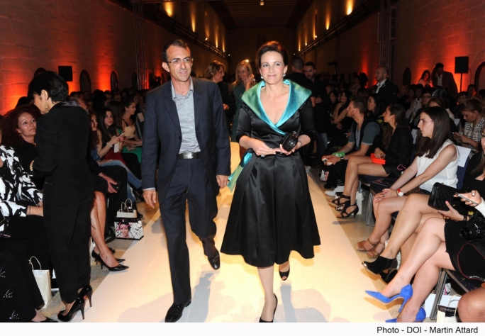 Michelle Muscat dolls up for the Malta Fashion Awards.