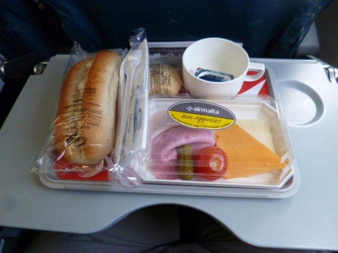 Air Malta, beer and sauerkraut