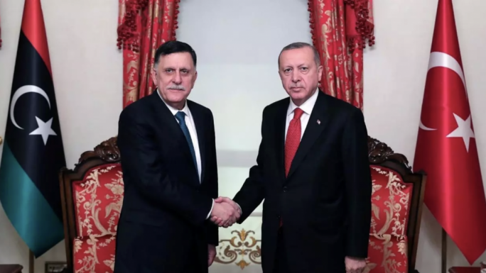 GNA president Fayez el Serrraj with Turkish president Reccep Tayyip Erdogan. Malta hopes that by currying favour with the Turks, it can put more pressure on the GNA to stop the operations of human traffickers on Libyan shores. But by withdrawing from Irini, does it risk irritating its EU allies?