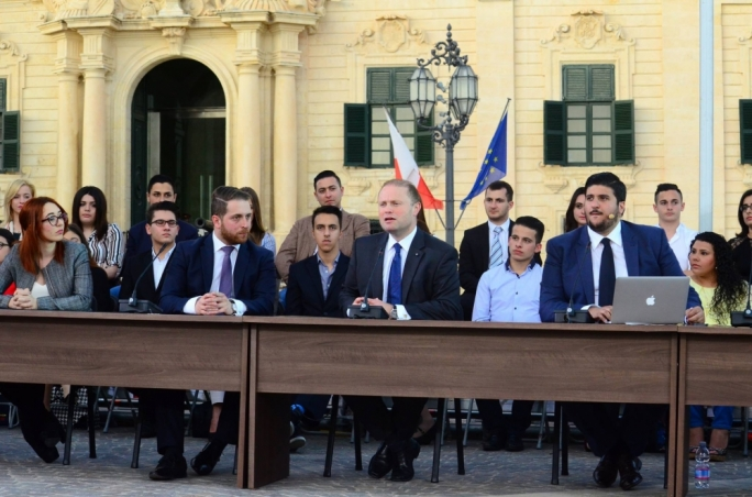 Muscat tells youths to be trailblazers and work for equality and integration