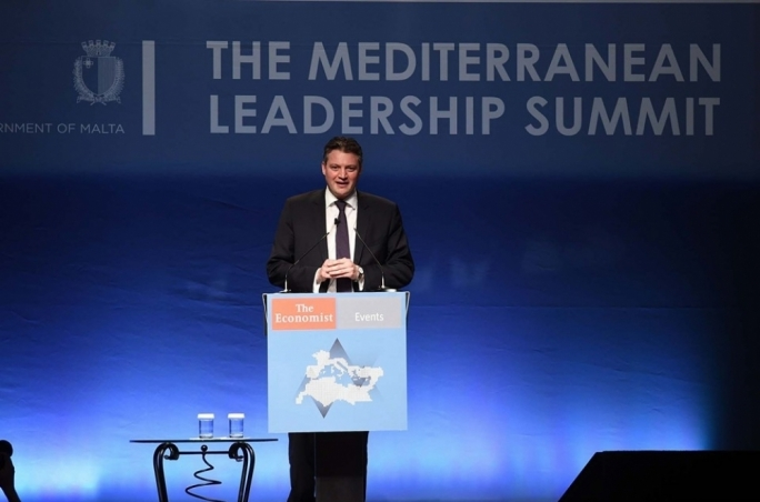 Konrad Mizzi gives speech on energy at Economist summit