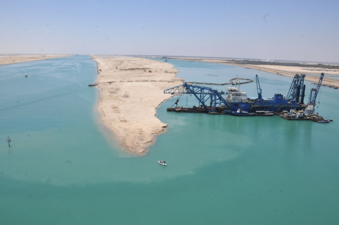 Officially opened in 6 August of this year, the New Suez Canal adds an additional 35-kilometre-long second shipping lane in the existing 164-kilometre-long historical artificial waterway.