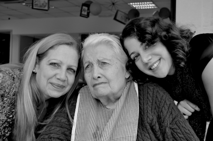 Anne Cuschieri (left) with her mother, a dementia sufferer, and daughter