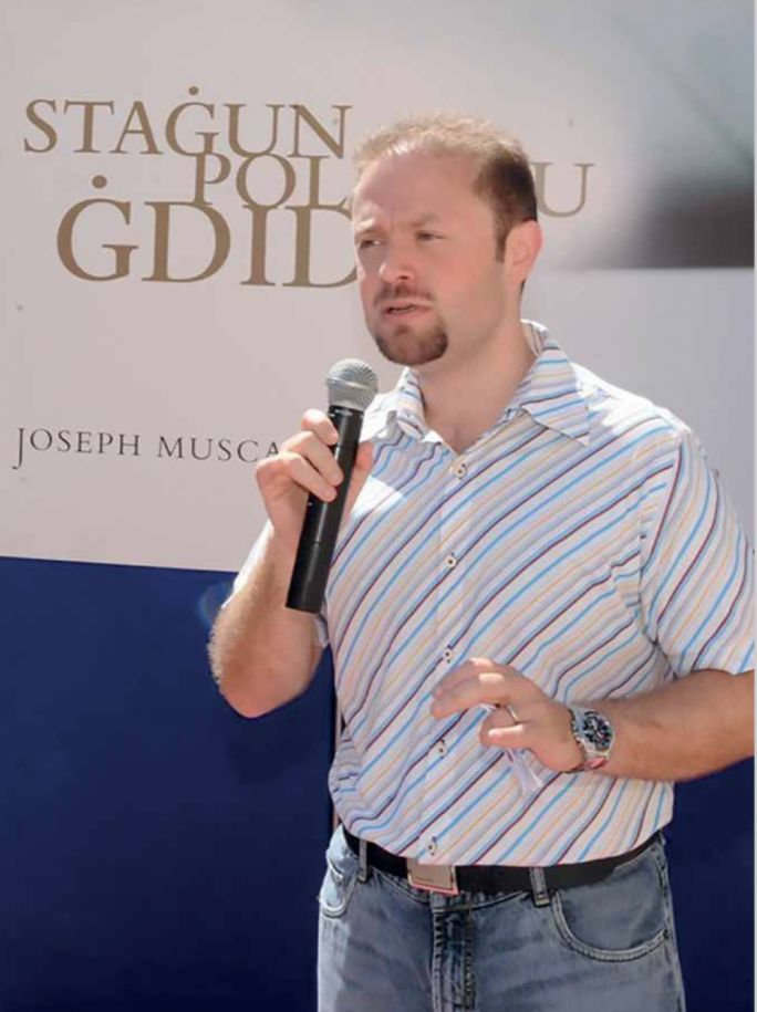Joseph Muscat during his 2008 campaign