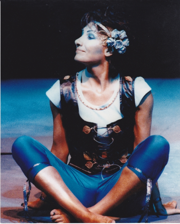 Nanette Brimmer playing Puck in a 1997 MADC production of the same play