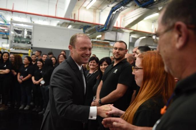 De La Rue expansion ties in to vision of Malta being at forefront of innovation - Joseph Muscat