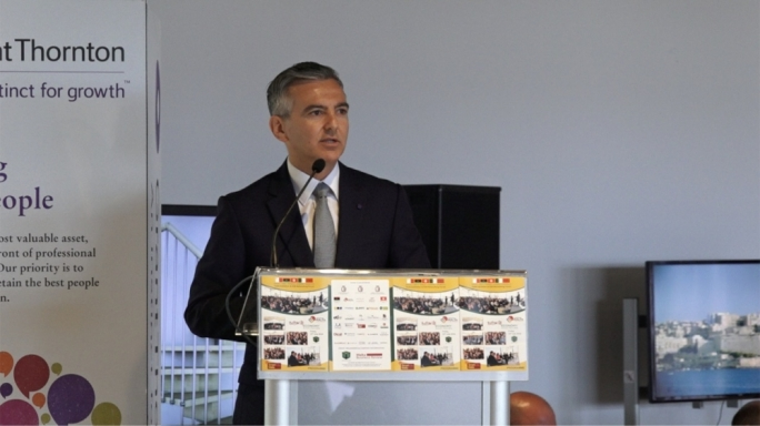 Simon Busuttil addressing networking forum at SmartCity