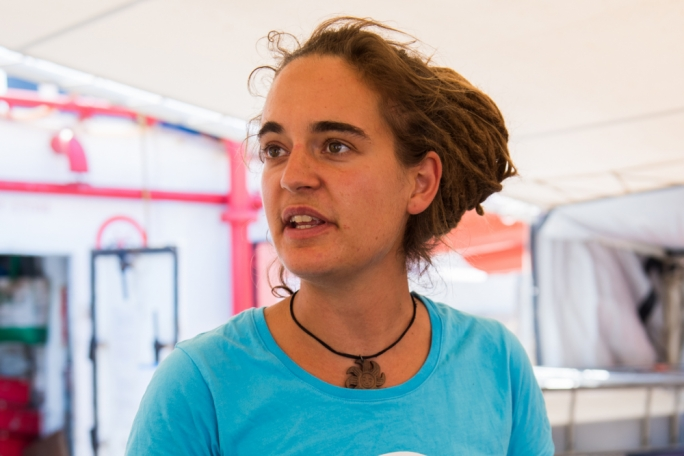 The rescue vessel's captain, Carola Rackete