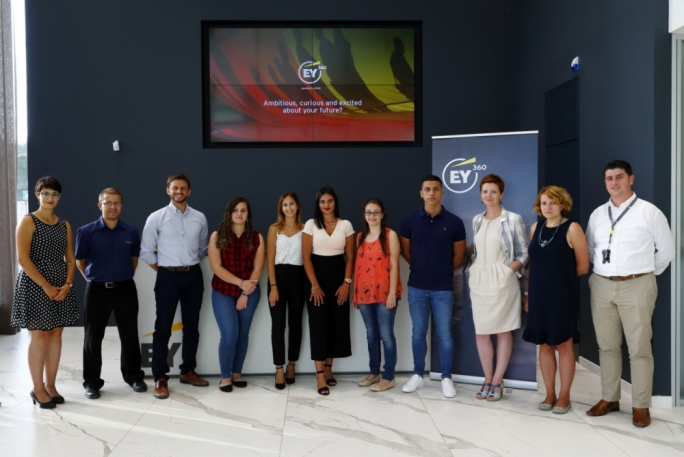 EY360 students and lecturers during the recent launch of the fast track ACCA programme