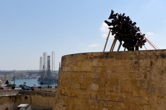 'A Flame That Will Never Die' by Valerio Schembri was commisioned by Heritage Malta on request of the Office of the Prime Minister