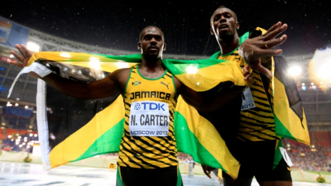Nesta Carter and Usain Bolt