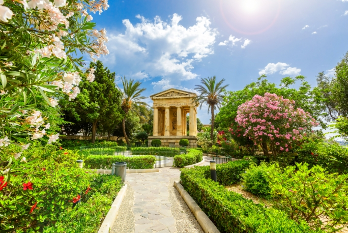 Marked by the powers that held sway: Valletta's Hastings Gardens honour the memory of Alexander Ball with this majestic mausoleum erected under British rule