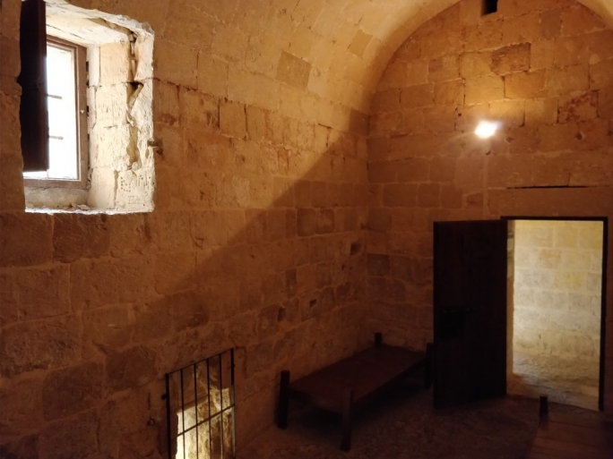 A 17th century prison cell at the Inquisitor's Palace in Birgu
