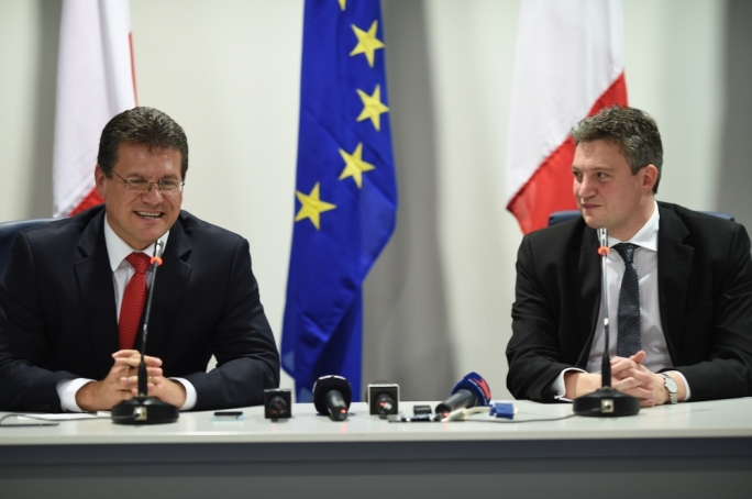 European Commission Vice-President Maroš Šefčovič and Energy Minister Konrad Mizzi (Photo: Ray Attard)