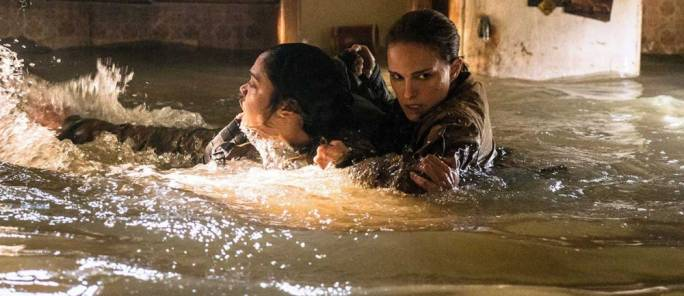 Murky waters: Tessa Thompson and Natalie Portman in Alex Garland's Annihilation