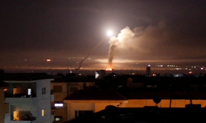 Missile fire was seen from Damascus, after Israel responded to a rocket attack on the Golan Height (Photo:Omar Sanadiki/Reuters)