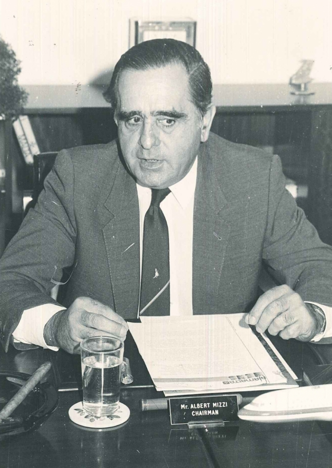 Albert Mizzi was appointed chairman of Air Malta in June 1973