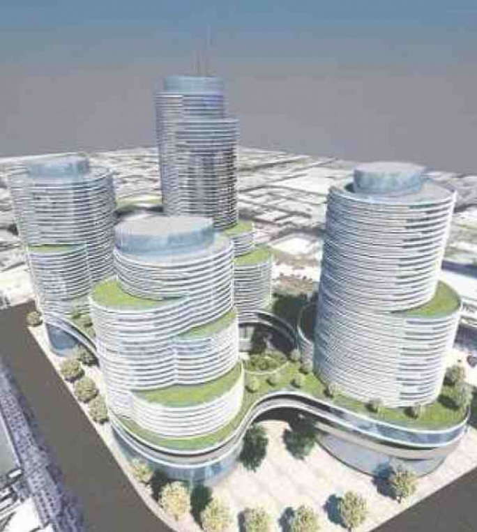 A mock-up of the proposed development